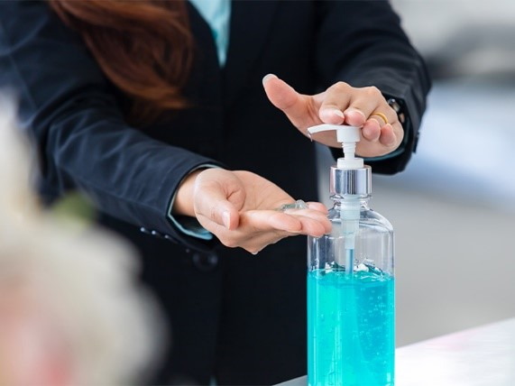 Hand Sanitizer In Office Workplace